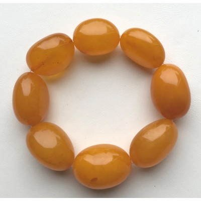 Big beads antique color amber bracelet-AB3006