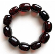 Big cherry barrel shape Baltic amber bracelet 34g