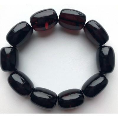Big cherry barrel shape Baltic amber bracelet-AB3053