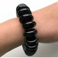 Cherry Baltic amber elastic bracelet 33g