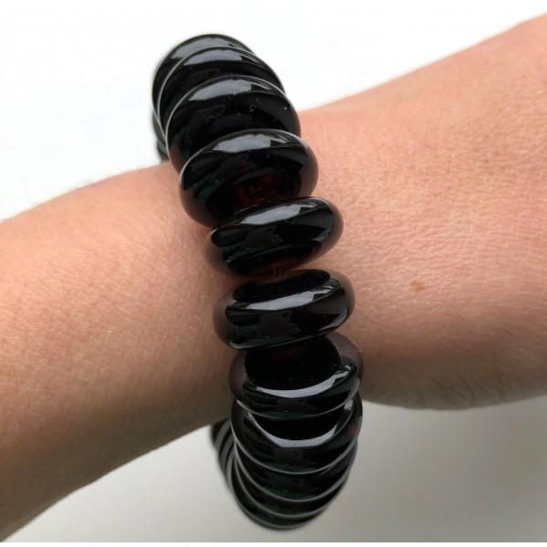 Cherry Baltic amber elastic bracelet 33g -