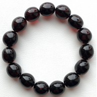 Cherry olive shape Baltic amber bracelet