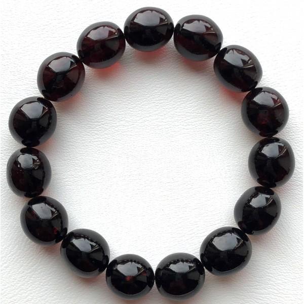 Cherry olive shape Baltic amber bracelet -