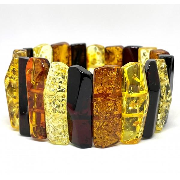 Faceted Baltic amber bracelet -