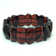 Faceted cherry color Baltic Amber bracelet-AB3028
