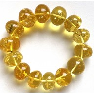 Genuine BALTIC AMBER Baroque Shape Beads Stretch Bracelet 44g