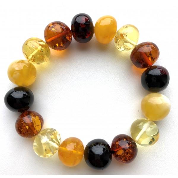 Baroque Shape Beads Stretch Bracelet