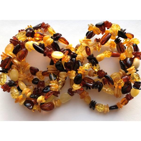 Lot of 10 wholesale Genuine Baltic amber bracelet-AB3049