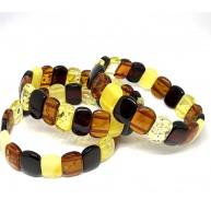 Lot of 3 classic Baltic amber bracelets