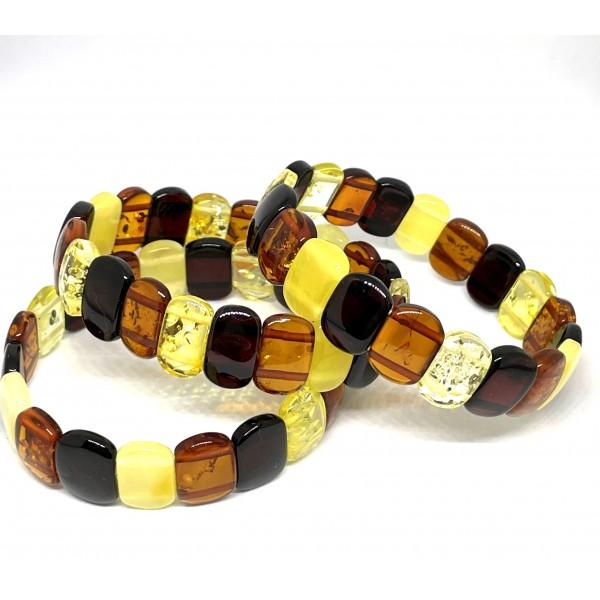 Lot of 3 classic Baltic amber bracelets -