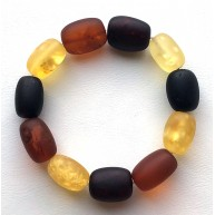 Natural BALTIC AMBER BRACELET Unpolished Beads Unisex