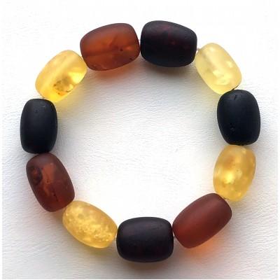 Natural BALTIC AMBER BRACELET Unpolished Beads Unisex