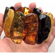 Natural shapes amber bracelet 84g