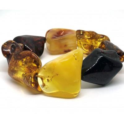 Natural shapes BALTIC AMBER bracelet-AB3034