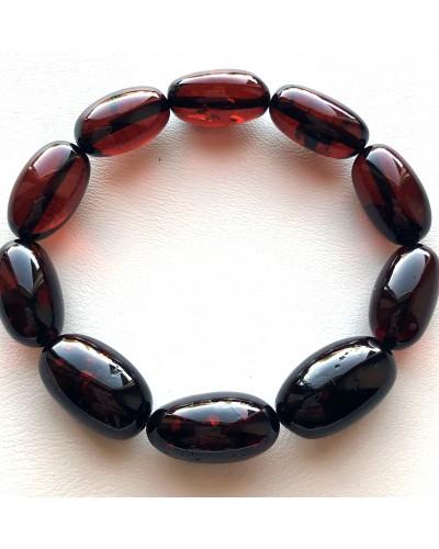 Olive Shape Beads Genuine Baltic Amber Bracelet