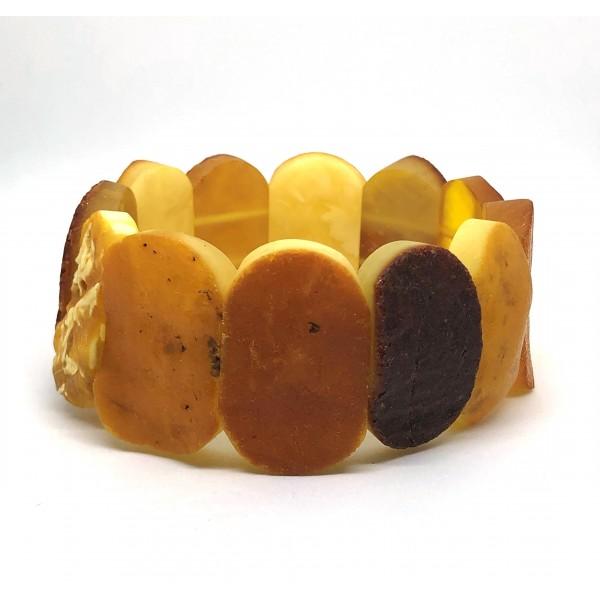 Raw classic Baltic amber bracelet 39g. -