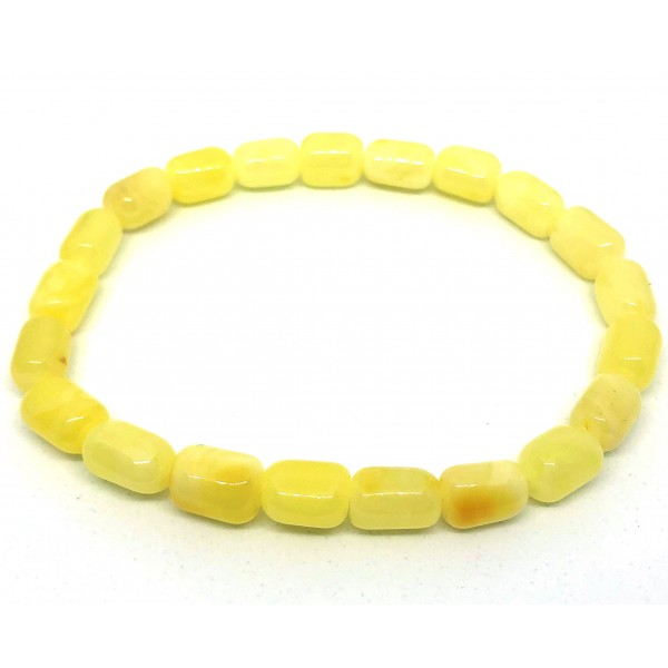 Real Genuine Natural Baltic Amber beads elastic bracelet -AB3024