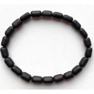 Unpolished Amber Bead bracelet For Men