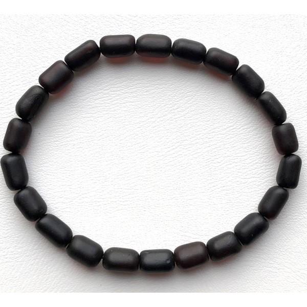 Unpolished Amber Bead bracelet For Men -
