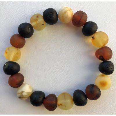 Unpolished baroque beads amber bracelet
