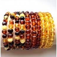 10 Baroque beads amber bracelets