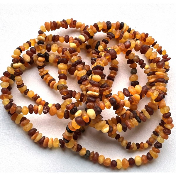10 Raw Baltic amber small chip bracelets -