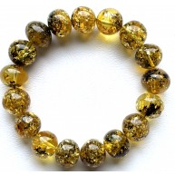 AMBER BRACELET Green Baltic Amber Baroque Beads 20 g.