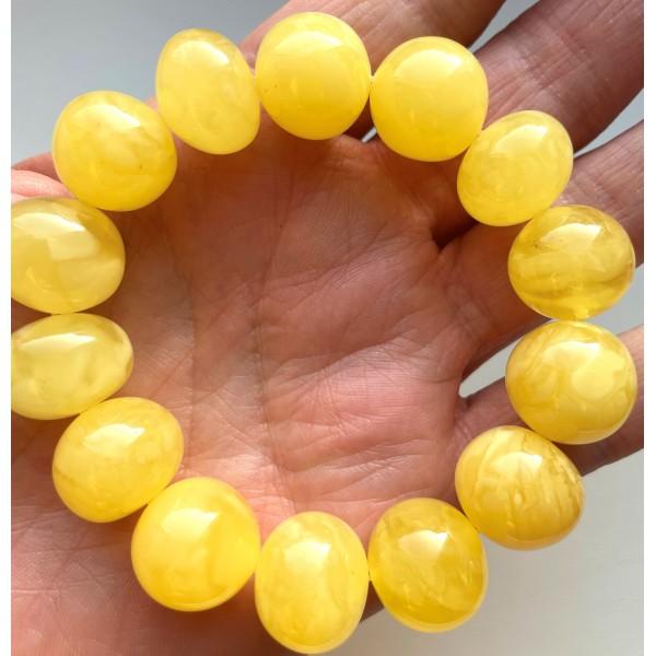 AMBER BRACELET Natural Baltic Amber Baroque Beads 30 g. -