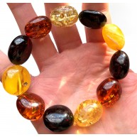 AMBER BRACELET Natural Baltic Amber Big Beads 28g