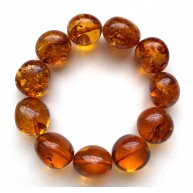 AMBER BRACELET Natural Baltic Amber Big Beads 34g