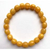 Antique Amber Olive Shape Beads Genuine Bracelet 7,4 g.