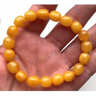 Antique Amber Olive Shape Beads Genuine Bracelet
