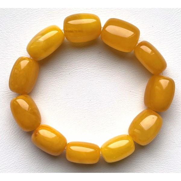 Antique barrel shape Baltic Amber bracelet 23 g. -