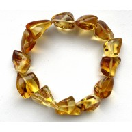 BALTIC AMBER NATURAL SHAPE BEADS LEMON BRACELET