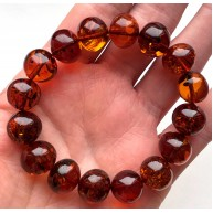 Genuine BALTIC AMBER Baroque Shape Beads Stretch Bracelet 21g