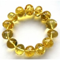 Genuine BALTIC AMBER Baroque Shape Beads Stretch Bracelet 34g
