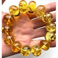 Genuine BALTIC AMBER Baroque Shape Beads Stretch Bracelet 48 g