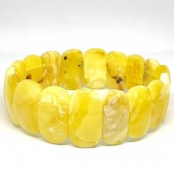 Genuine BALTIC AMBER Yellow Stretch Bracelet 17 g