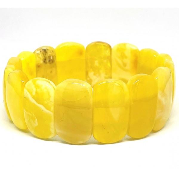 Genuine BALTIC AMBER Yellow Stretch Bracelet 20 g -