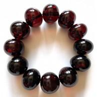 Large BALTIC AMBER Baroque Beads Bracelet 47g