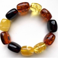 Natural BALTIC AMBER BRACELET Barrel Beads Unisex