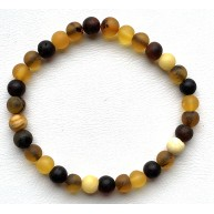 Natural Baltic Amber Bracelet for Adults, Made from Raw-Unpolished