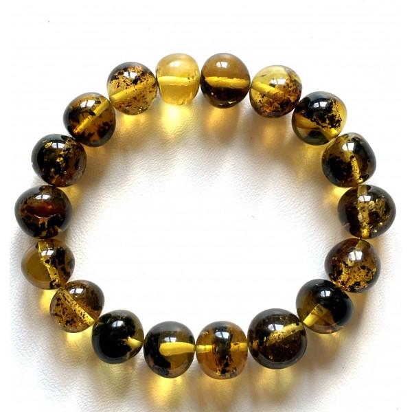Natural Plant Amber Bracelet Baroque Beads 16 g -
