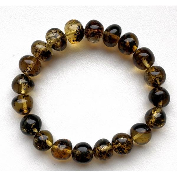 Natural Plant Amber Bracelet Baroque Beads -