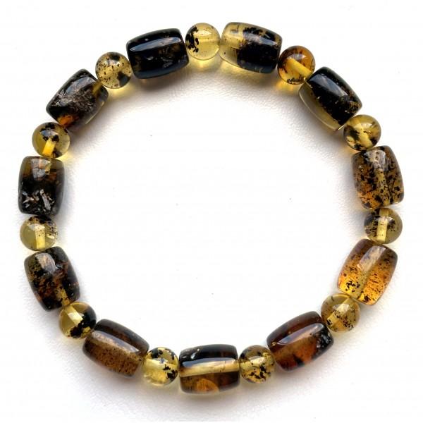 Natural Plant Amber Stretch Bracelet -