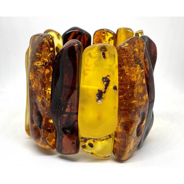 Natural shapes Baltic amber bracelet 115 g -