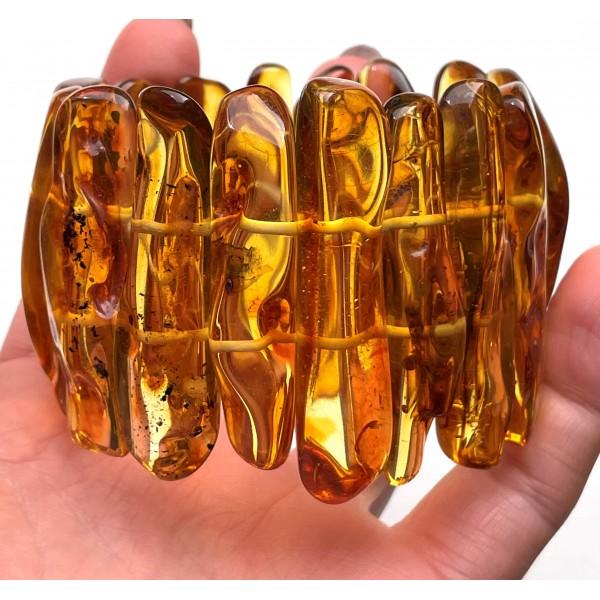 Natural shapes Baltic Amber bracelet 70 g -