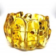 Natural shapes Baltic Amber bracelet
