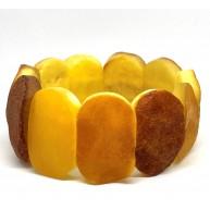 Raw BALTIC AMBER  Stretch Bracelet 42,8 g