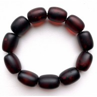 Unpolished BALTIC AMBER BRACELET Barrel Beads Unisex